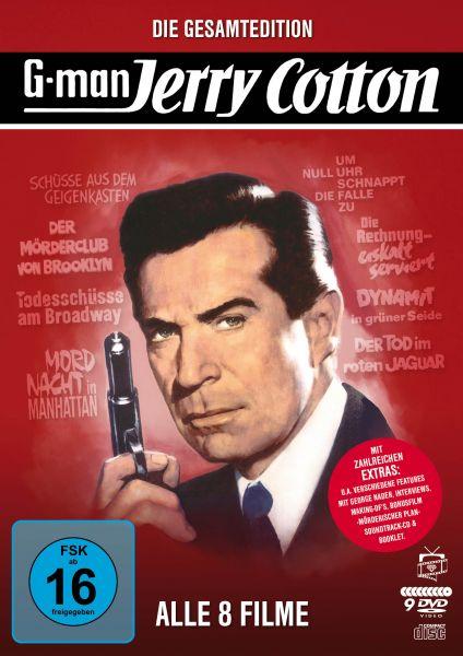 Jerry Cotton - Die Gesamtedition: Alle 8 Filme (9 DVDs) (inkl. Soundtrack-CD)