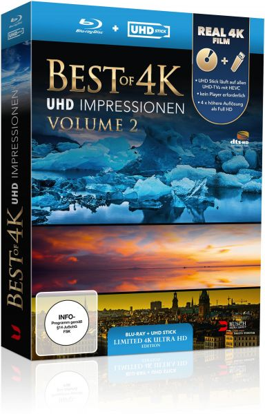 Best of 4K - UHD Impressionen Volume 2 (UHD Stick in Real 4K + Blu-ray) - Limited Edition
