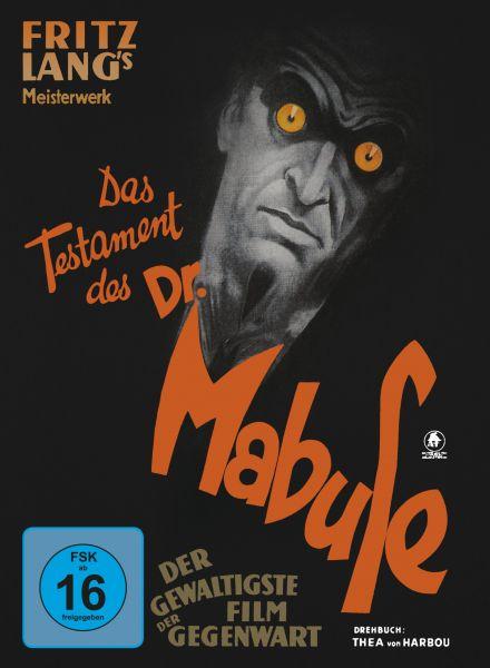 Das Testament des Dr. Mabuse - limitiertes Mediabook, restaurierte Fassung (DVD + Blu-ray)