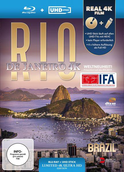 Rio de Janeiro, Brazil 4K (UHD Stick in Real 4K + Blu-ray) - Limited Edition